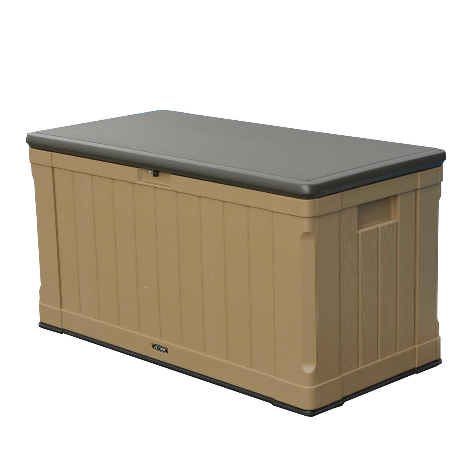 Lifetime 116 Gallon Outdoor Organizer Storage Pool & Patio Deck Box Bench, Beige by Lifetime