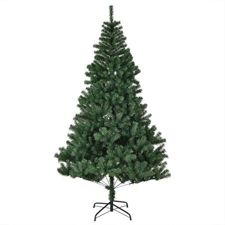gymax 7 ft artificial christmas tree w solid metal legs holiday season indoor outdoor