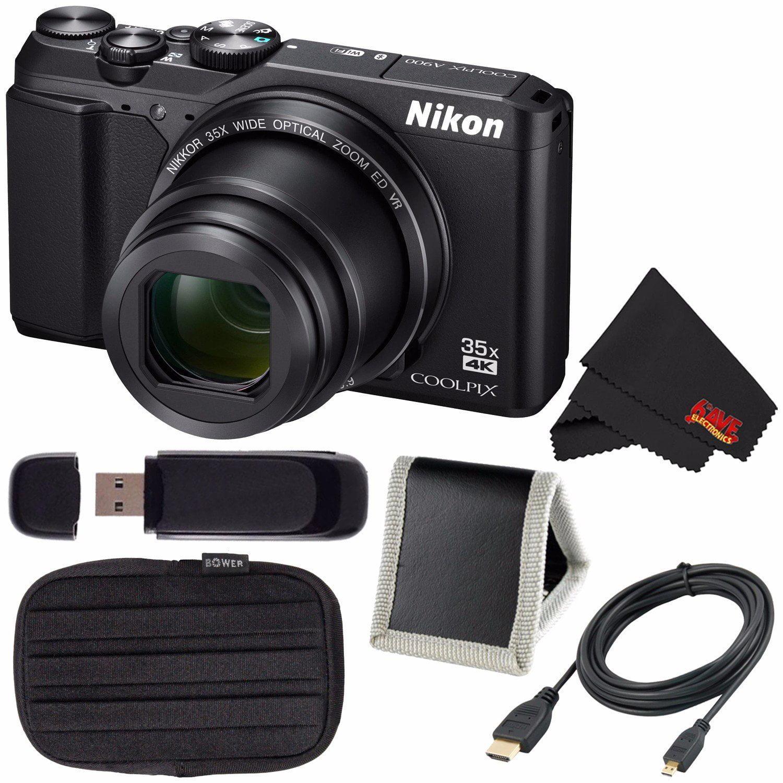 Nikon COOLPIX A900 Digital Camera (Silver) 26505 International Model + EN-EL12 Replacement Lithium Ion Battery + External Rapid Charger + 64GB SDXC Class 10 Memory Card Bundle