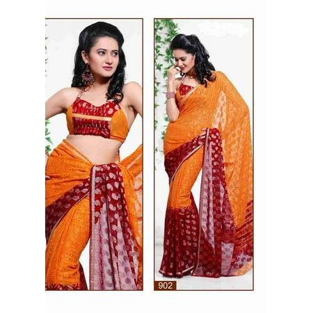 Bhumika Georgette Indian Sari saree Fabric Bellydance