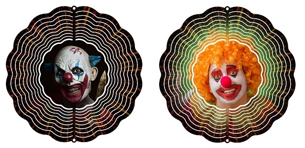 "Garden Wind Spinner Scary Clown 10"" Wind Spinner by Next Innovations"