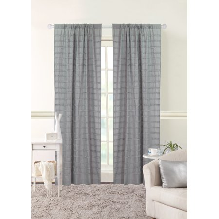 Better Homes & Gardens Ruffle Stripe Single Window Curtain - Ruffled Stripe