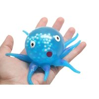 (BLUE) Gel Octopus Stress Ball - Squishy Toy - Sensory Fidget
