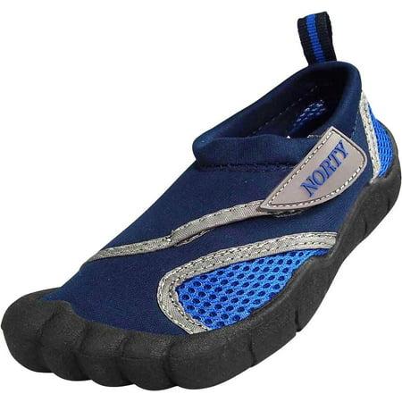 Norty Wave Toddler Childrens Kids Slip on Aqua Socks Pool Beach Water Shoe, 38885 Navy Royal / covid 19 (Keds Childrens Shoes coronavirus)