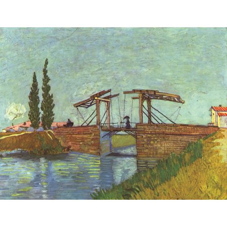 Framed Art for Your Wall Gogh, Vincent Willem van - The bridge of L'Anglois at Arles (the drawbridge) 10 x 13 Frame (Vpn Bridge)