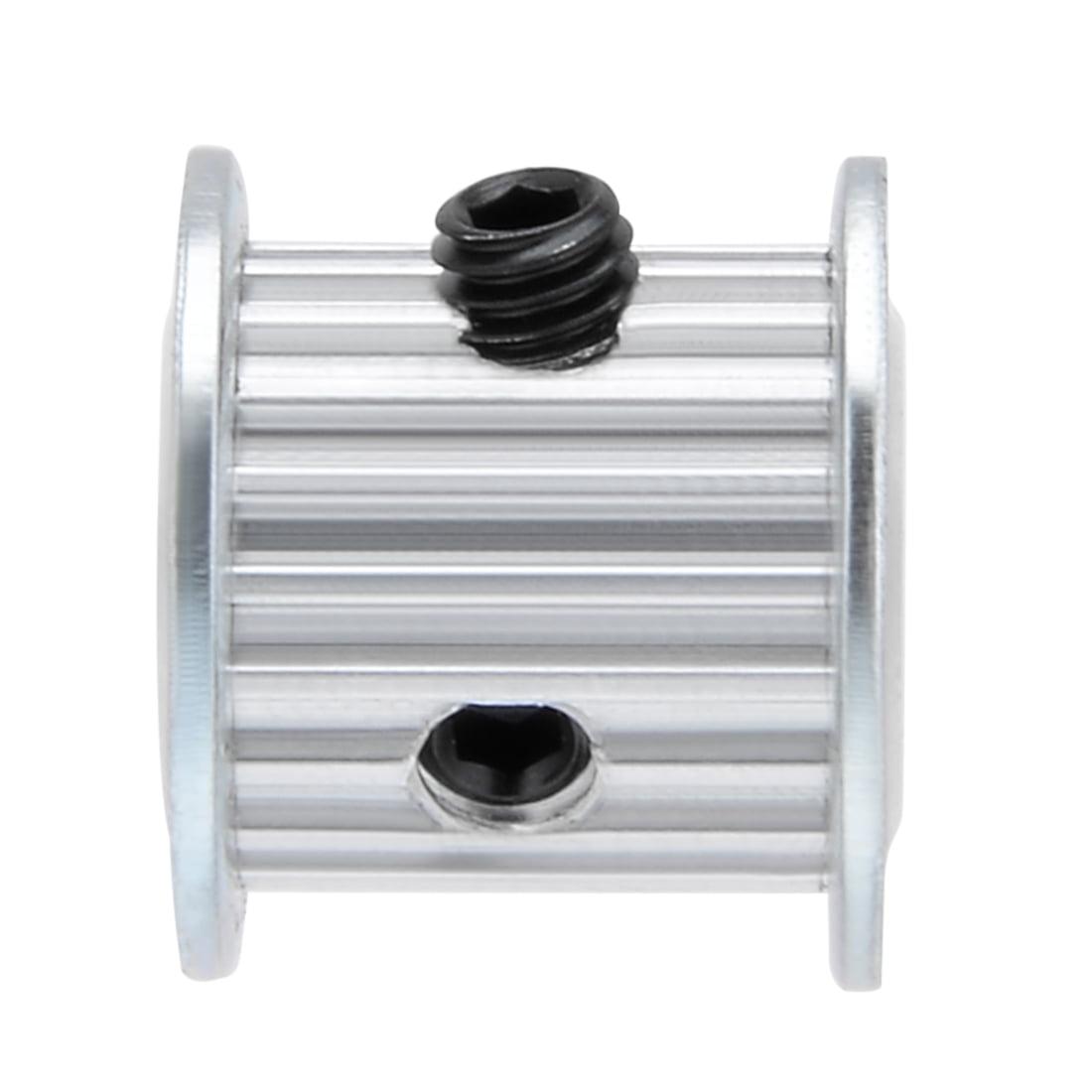 Aluminum MXL 20 Teeth 5mmx4.5mm D-Shape Bore 11mm Belt Timing Idler Pulley Wheel - image 5 of 6