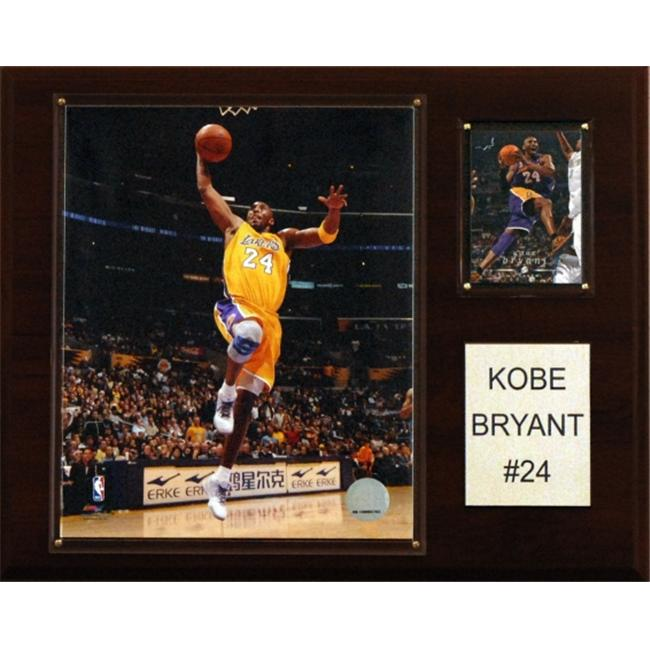 C & I Collectables 1215KOBE NBA Kobe Bryant Los Angeles Lakers Player Plaque