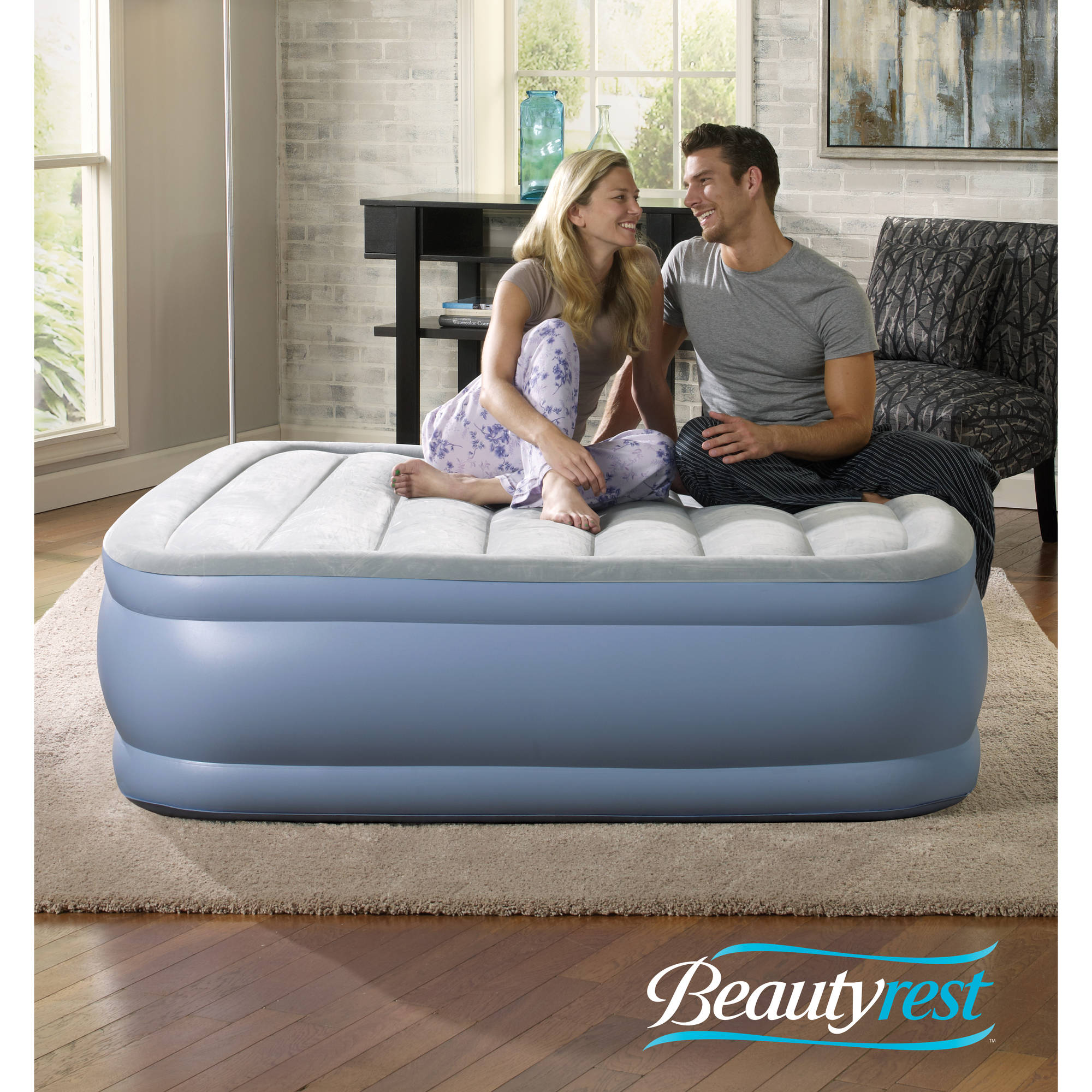 simmons beautyrest hi loft raised air bed mattress with express pump multiple sizes walmartcom