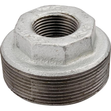World Wide Sourcing 35-1X3-4G Malleable Hex Pipe Bushing Galvanized - 1 x .75