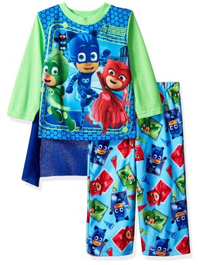 PJ Masks Toddler Boys Long Sleeve Pajamas with Cape 21PJ108ELL