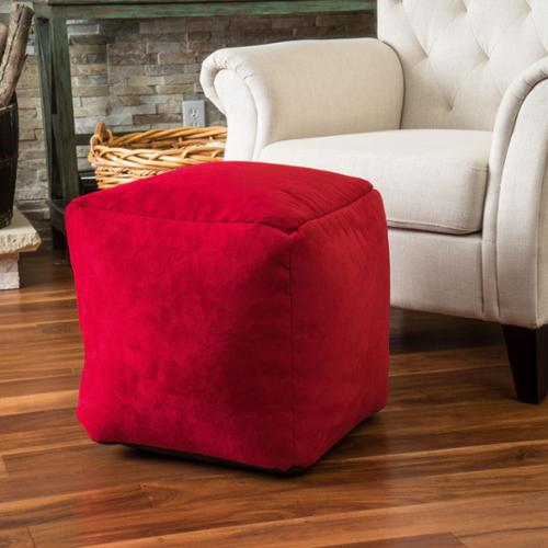 Christopher Knight Home Whitney Faux Suede Beanbag Cube Ottoman Pouf Whitney Faux Suede Brown Bean Bag Cube Ottoman