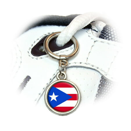 Flag Shoe Charm (Puerto Rico Puerto Rican Flag Round Dangle Shoe)