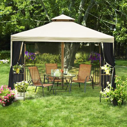 Garden Winds Laketon Gazebo Replacement Canopy Top : mainstays replacement canopy - memphite.com