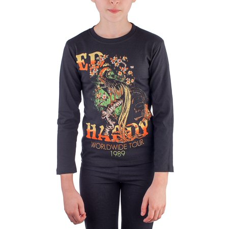 Ed Hardy Toddlers Girls T-Shirt](Black Cat Felicia Hardy)