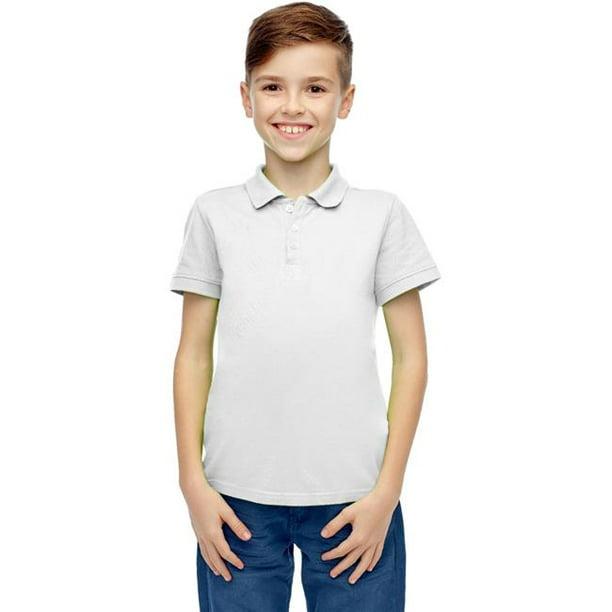 DDI 2191477 Boys' Short Sleeve White Polo Shirts - Size 8-14 Case of 36
