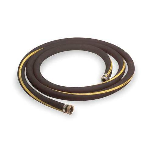 """GRAINGER APPROVED 1-1/2"""" ID x 20 ft Rubber Water Suction Hose BK, 3P572"""