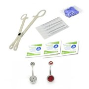 LionGothic Belly Ring Piercing Kit 13 Pieces