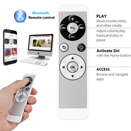 BT Bluetooth Wireless Media Music Remote Control + Wireless Selfie Remote Camera Shutter for iPhone, iPad, iOS and Android (Best Ipad Remote Control)
