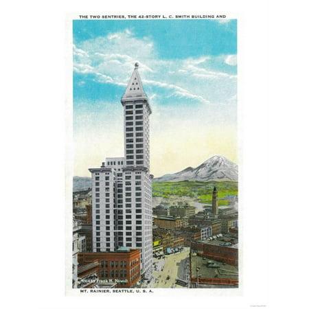 Smith Tower Building, Seattle - Seattle, WA Print Wall Art By Lantern