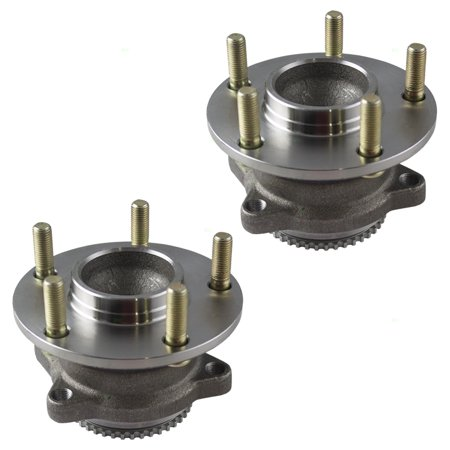 Pair Set Rear Wheel Hub Bearing Assembly Replacement for Mitsubishi Endeavor MR589518 HA590143