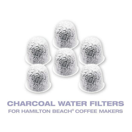 Replacement Charcoal Water Coffee Filter Cartridges for Hamilton Beach, Set of (Hamilton Beach Coffee Maker Water Filter Replacement)