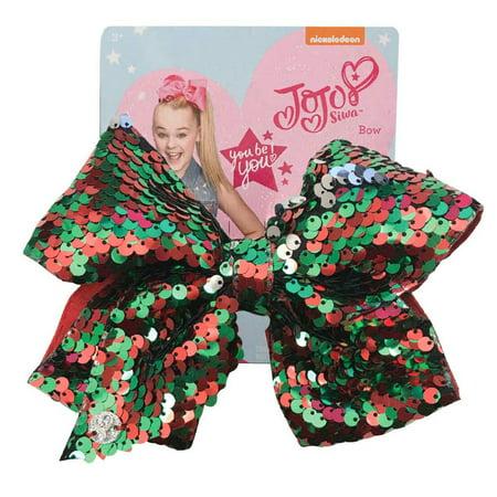 jojo siwa large cheer hair bow christmas sequins