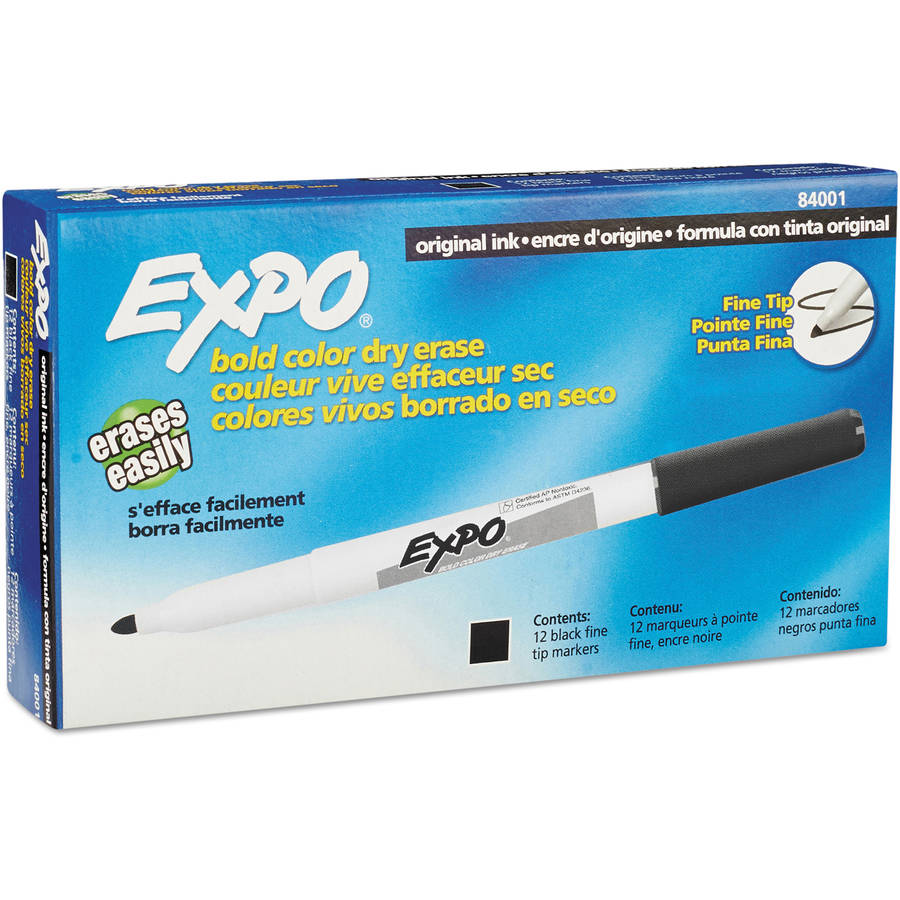 EXPO Dry Erase Marker, Fine Point, Available in Multiple Colors