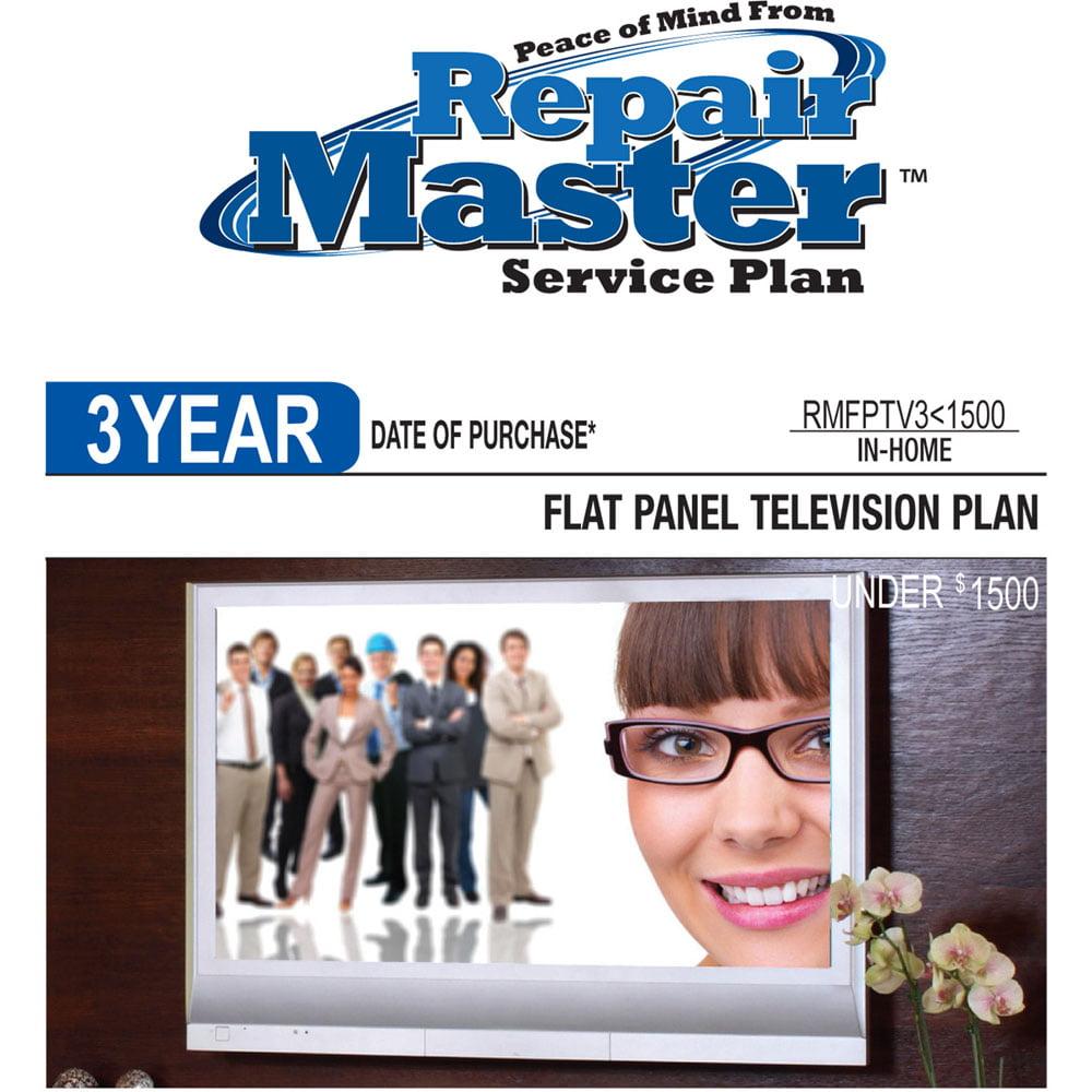 3-Yr TV, Under $1,500 Flat Panel (LCD, LED,Plasma,LCD/LED Proj.) DOP