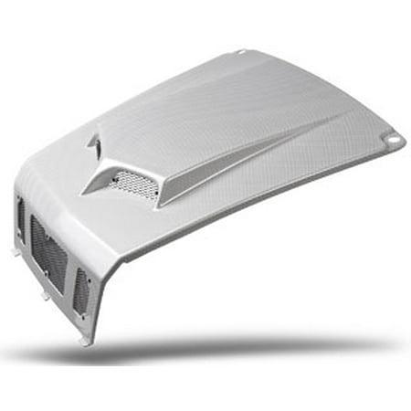 Maier Mfg Custom Hood Scoop Carbon Fiber White   19471-31