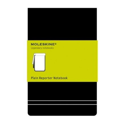 Plain Reporter Notebook (Reporter Notebooks: Moleskine Reporter Notebook, Large, Plain, Black, Hard Cover (5 X 8.25))