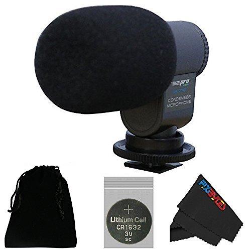I3ePro BP-CMIC1 X-Series Mini Shotgun Condenser Microphone for Panasonic DMC-FZ10K Digital Camera Grey