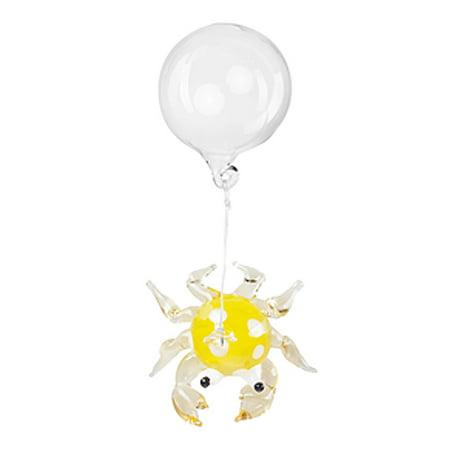- Floating Glass Aquarium Charm: Yellow Crab - By Ganz