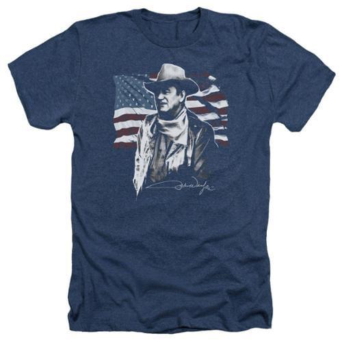 John Wayne American Idol Mens Heather Shirt Navy XL