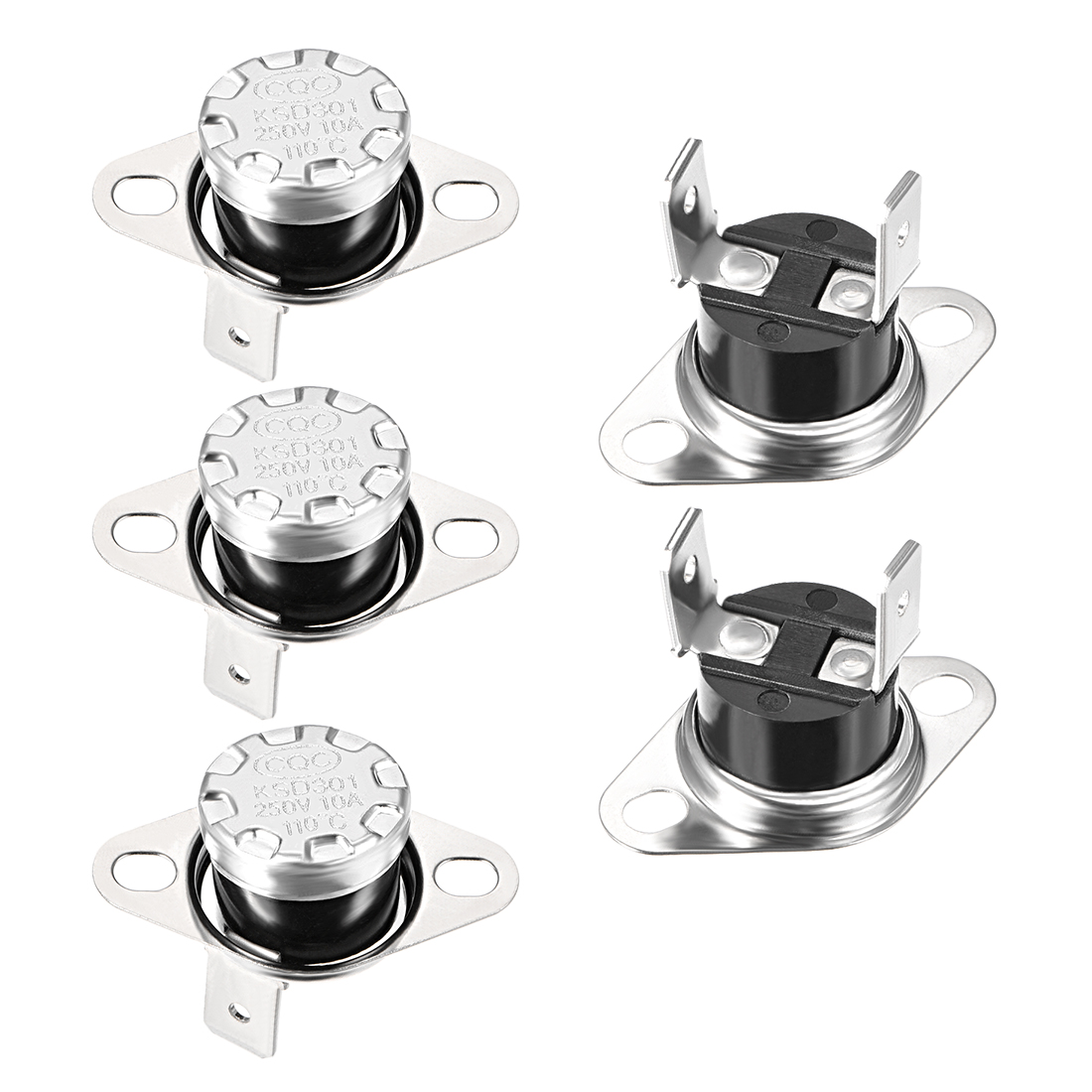 Temperature Control Switch Thermostat110掳C 10A Normally Closed N.C 5pcs - image 4 de 4