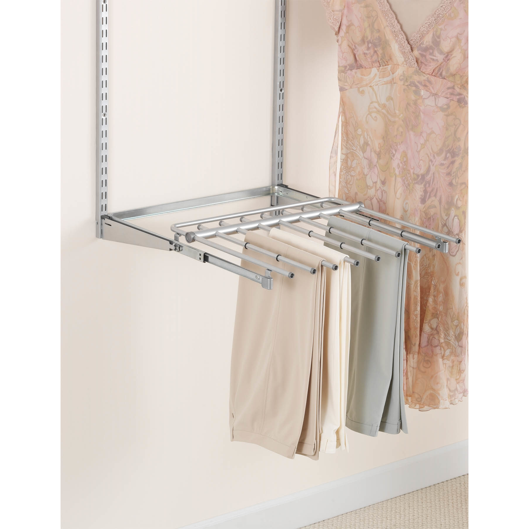Rubbermaid FG3J0602TITNM Configurations™ Closet Sliding Pants Rack Titanium