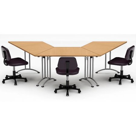 Team Tables Meeting Seminar Piece Angled H X W X L - 120 conference table