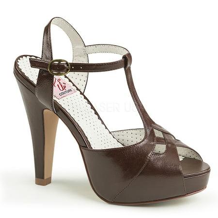 BETTIE-23, 4 1/2'' Heel 1 Semi Hidden Platform T-Strap Sandal](Platform Heels Size 12)