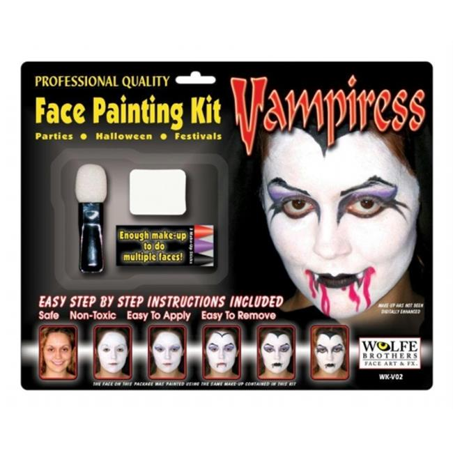 Costumes For All Occasions Wfv02 Vampiress Makeup Kit Wolfe Bro