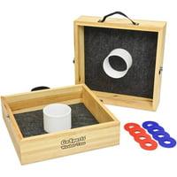 Premium Birch Wood Washer Toss Game with Washer Set