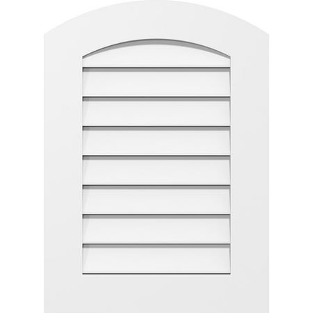 14 W x 30 H Arch Top Surface Mount PVC Gable Vent Functional w 3 1 2