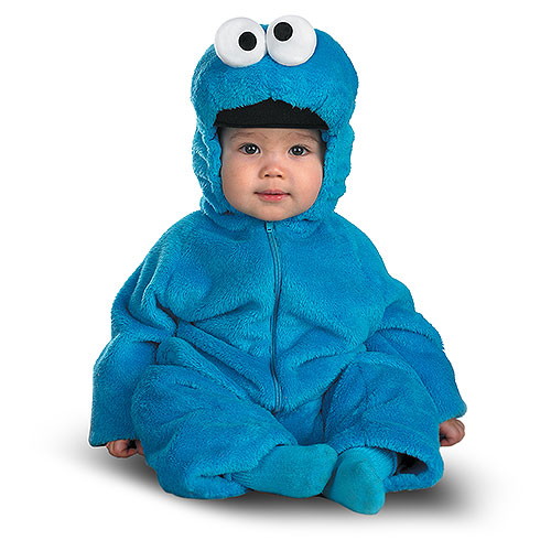 Click here to buy Sesame Street Cookie Monster Infant Halloween Costume by Disguise.