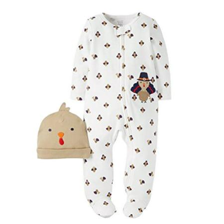 Carter s - Carters Infant Boys   Girls Thanksgiving Sleeper Turkey Sleep    Play   Hat - Walmart.com 331f3586dbf