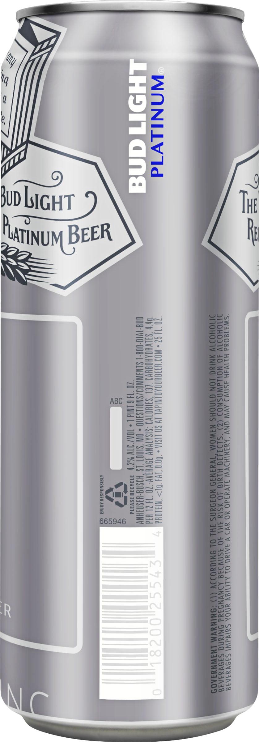 Bud Light Platinum Beer fl oz Walmart