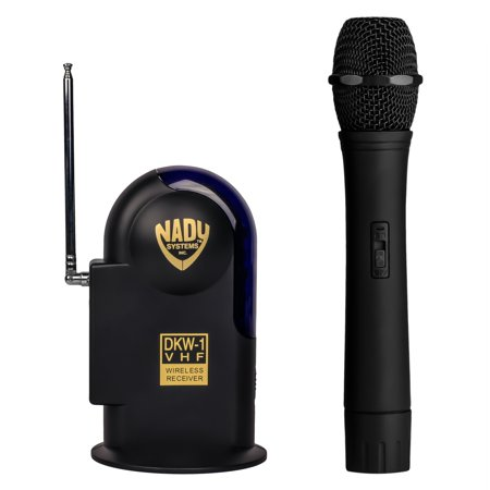 Adress Up (Nady DKW-1 Wireless Handheld Microphone VHF System – includes microphone, AC adapter and audio cable – Easy setup – Karaoke, performance, presentation, public)