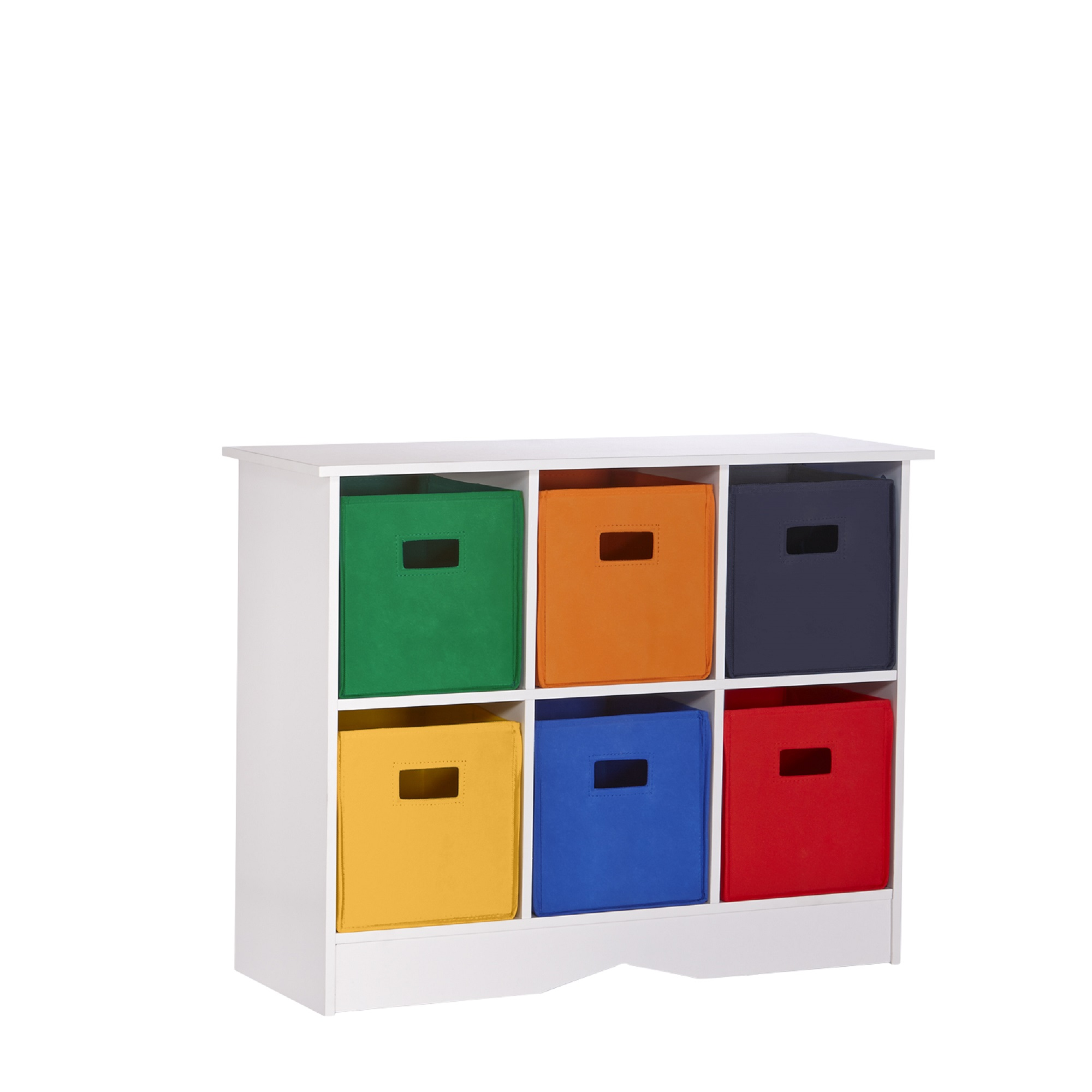 RiverRidge Kids 6 Bin Storage Cabinet Espresso Primary by Sourcing Solutions, Inc.