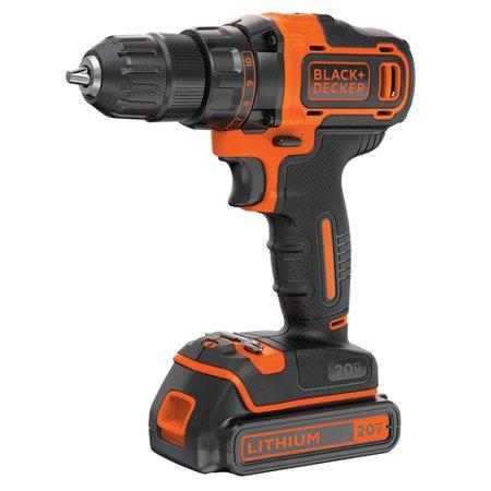 BLACK+DECKER 20-Volt MAX* Lithium 2 Speed Cordless Drill, BDCDD220C