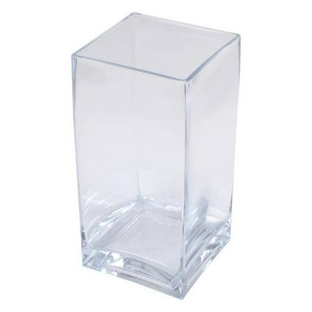 Lerman Decor Clear Glass Square Vase 925 Walmart