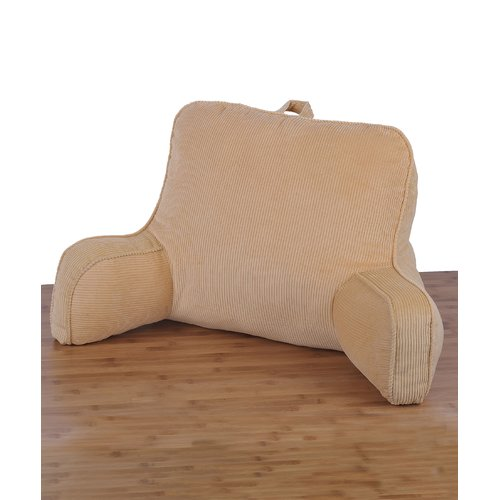 Ebern Designs Kenny Corduroy Lounger Cotton Bed Rest Pillow
