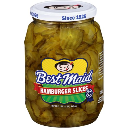 (2 Pack) Best Maid Hamburger Slices, 32 fl oz (Best Pickles For Hamburgers)
