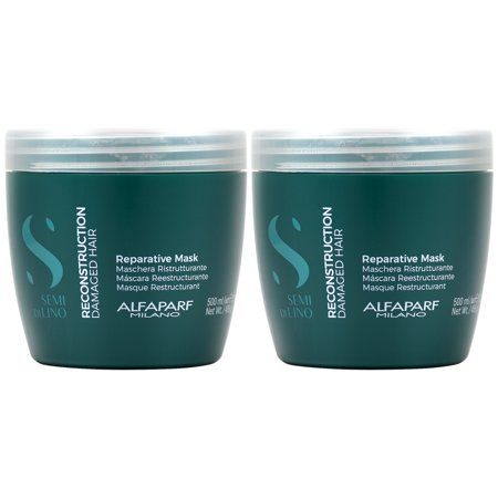 Alfaparf Semi di Lino Reconstruction Mask 17.4oz (Pack of 2)